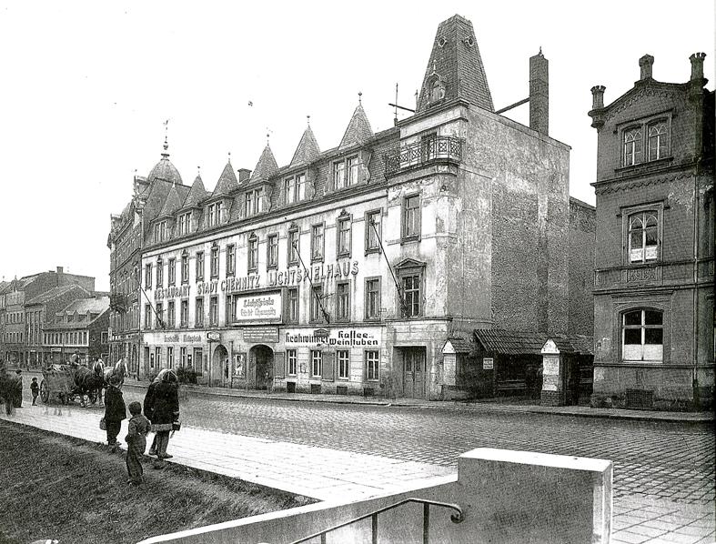 Historische Ansicht Hotel Stadt Chemnitz :: Quelle: Stadt Mittweida