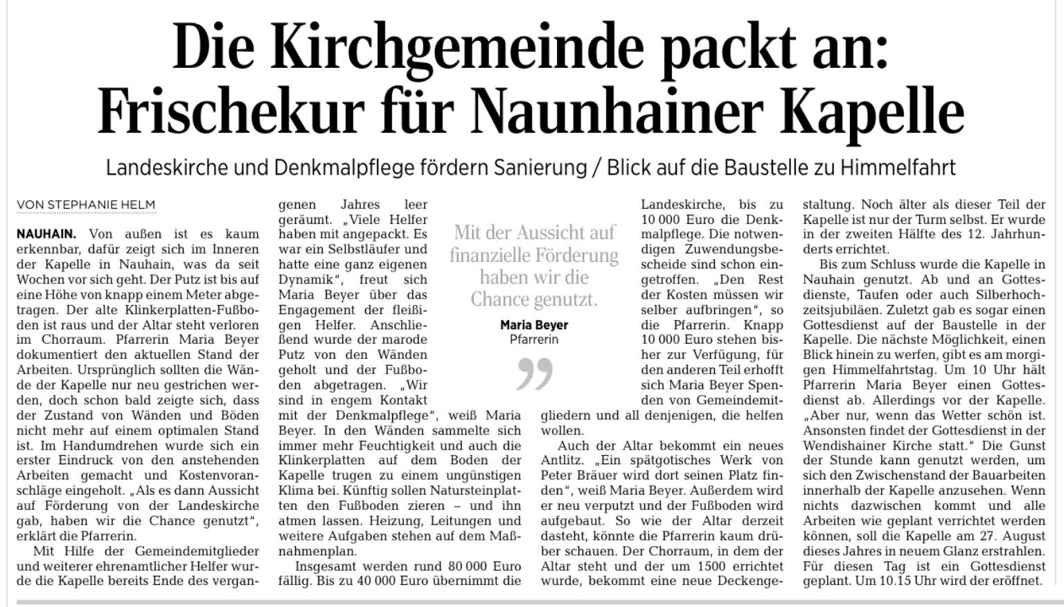 Presseartikel DAZ 24.05.2017