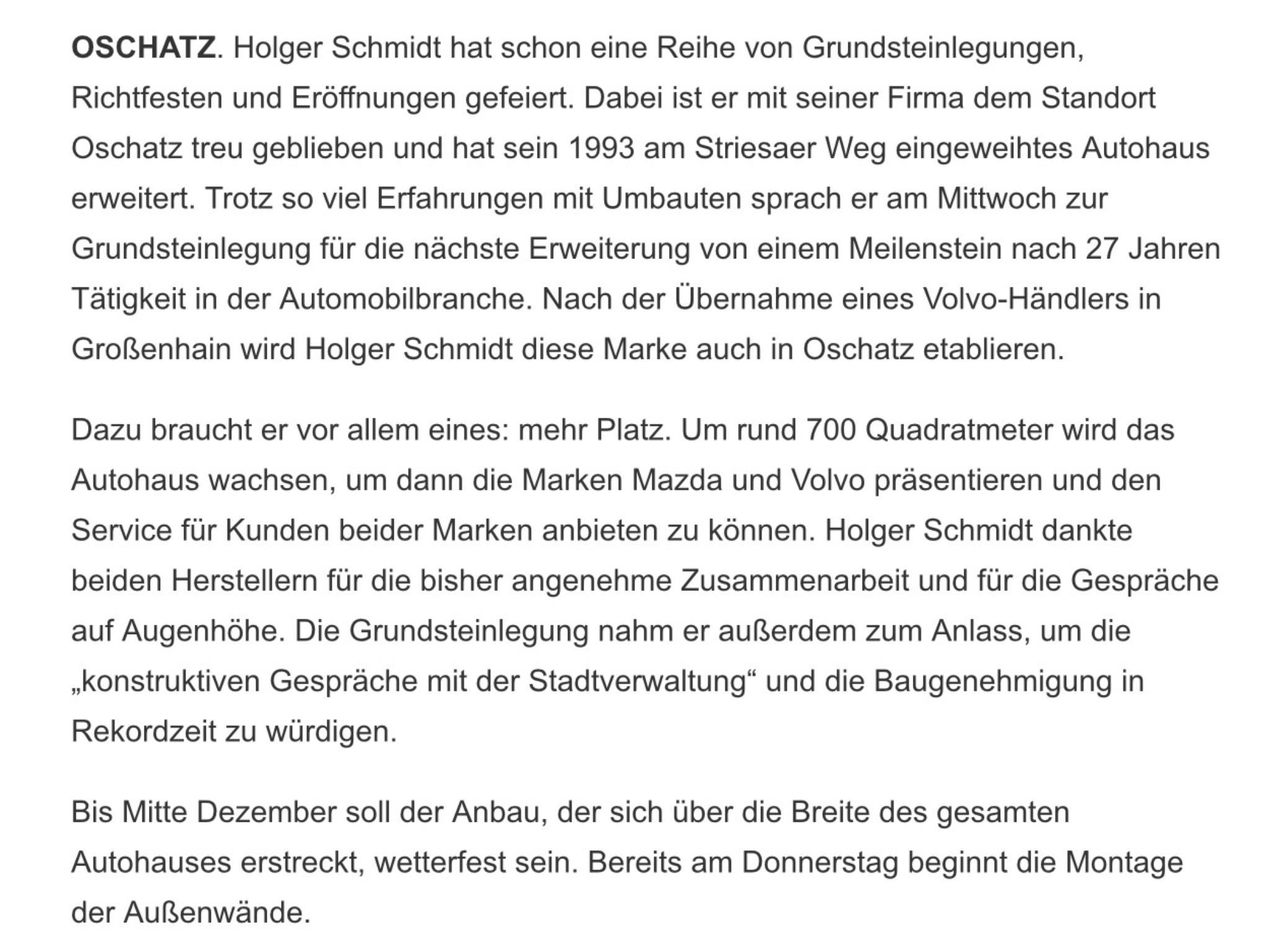 Oschatzer Allgemeine Zeitung 30.08.2017