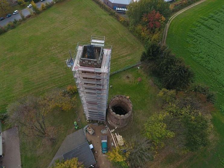 Luftbild Ostrauer Baugesellschaft - Holländerturm_BPS architektur
