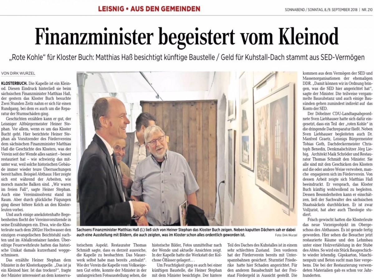Döbelner Allgemeine Zeitung vom 08.09.2018