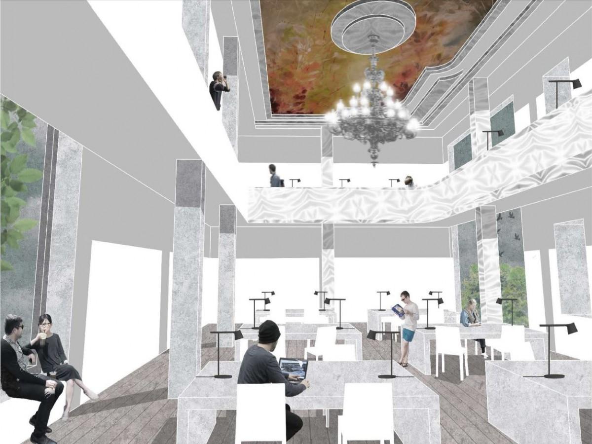 Stadtbibliothek Mittweida_Wettbewerb BPS architektur_Lesesaal