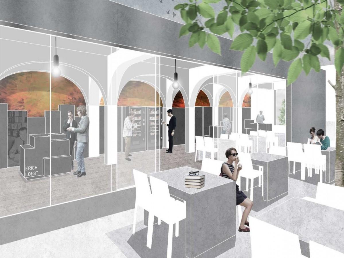 Stadtbibliothek Mittweida_Wettbewerb BPS architektur_Lesecafé