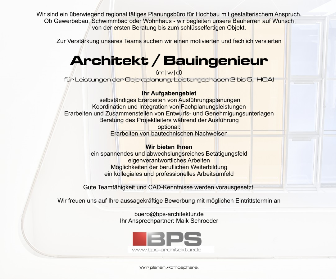 Mitarbeiter BPS architektur gmbh Döbeln