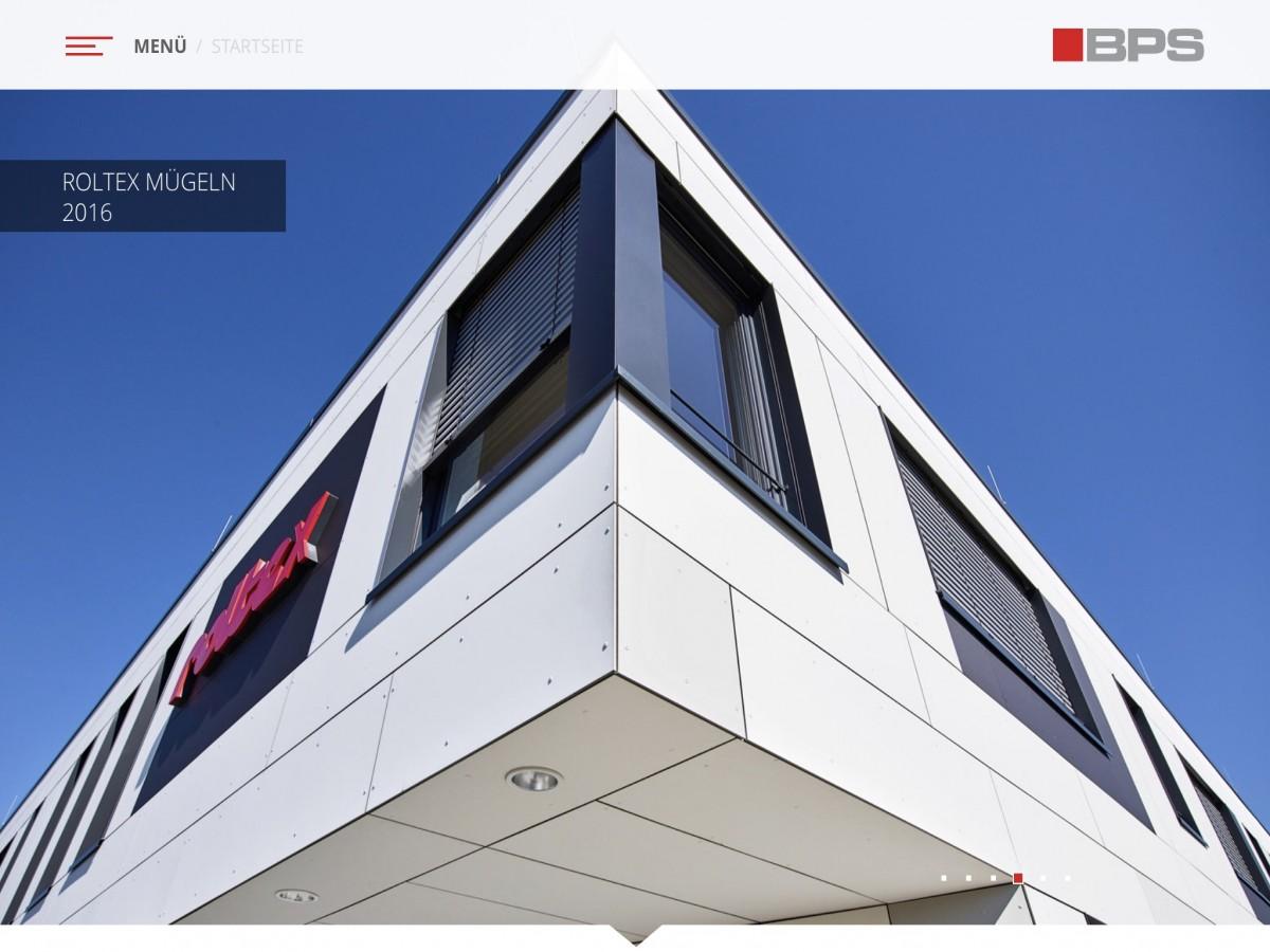 www.bps-architektur.de - Startbildschirm